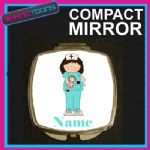 NURSE PERSONALISED WITH NAME COMPACT LADIES METAL HANDBAG GIFT MIRROR - 150927220538